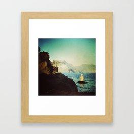 greek girl loves you Framed Art Print