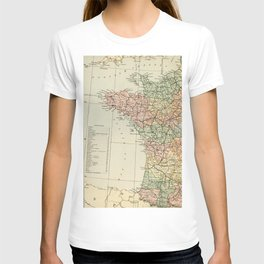 Old Map of the West of France T-shirt