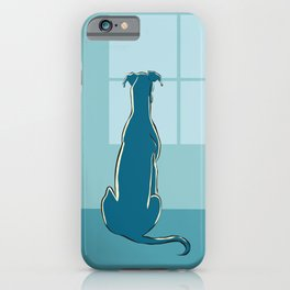 Waiting Greyhound iPhone Case