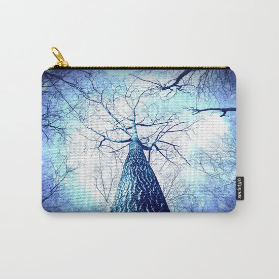 Winter's Coming : Wintry Trees Galaxy Skies Carry-All Pouch