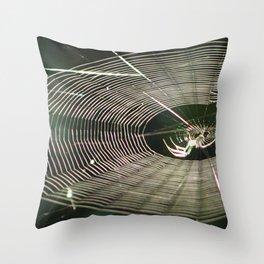 Spider Light Throw Pillow