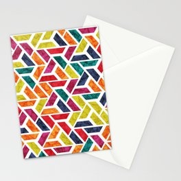 Seamless Colorful Geometric Pattern XII Stationery Cards