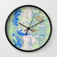 tie dye Wall Clocks featuring Tie Dye by Wendy Ding: Illustration