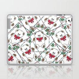 """ Christmas Teddy Pattern "" Laptop & iPad Skin"