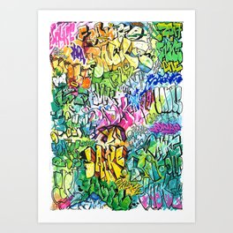 SALKE-COLORBOMB Art Print