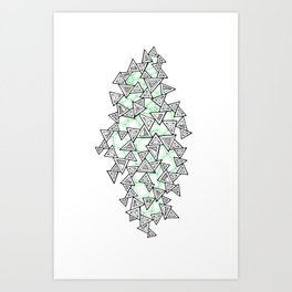 Triangles and Tessellation Art Print