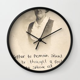 The Quote and the Photograph Wall Clock