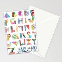 Carve December 2016 Alphabet Stationery Cards