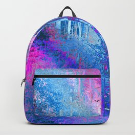 Psychedelic Forest (blue-pink) Backpack