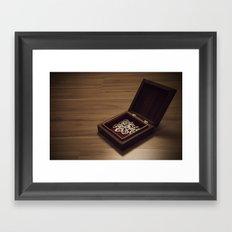 heart in a box Framed Art Print