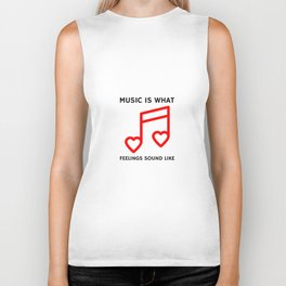Music Feelings Biker Tank