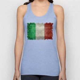 Italian flag, vintage retro style Unisex Tank Top