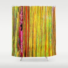 Pixelated Joy Shower Curtain