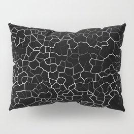 White on Black Crackle Pillow Sham