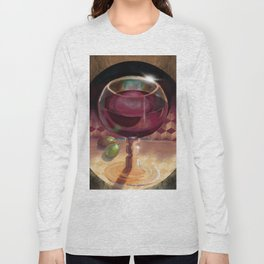 Wine and Grapes Long Sleeve T-shirt