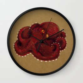 Coconut Octopus Wall Clock