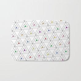 Triangulated Colours Bath Mat