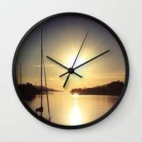 boat Wall Clocks featuring Boat by JoanaRosaC