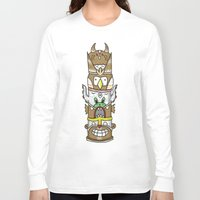 totem Long Sleeve T-shirts featuring totem by ybalasiano