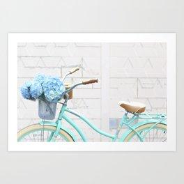 Turquoise Bike Art Print