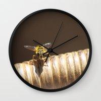 bee Wall Clocks featuring BEE by Avigur