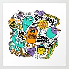 Fun & Cool Art Print