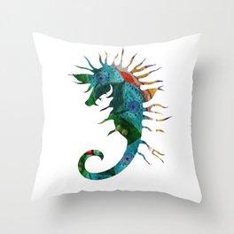 Seahorse Flow Throw Pillow