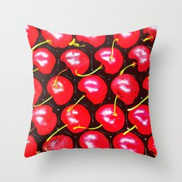 Lots of Red Cherry Throw Pillow