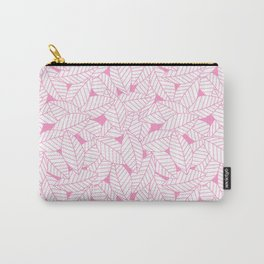 Leaves in Flamingo Carry-All Pouch