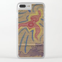 ACID Painting Clear iPhone Case