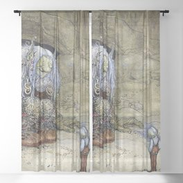 """The Boy Who Was Never Afraid"" by John Bauer Sheer Curtain"