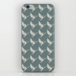 Pattern: Sparrow on blue-grey iPhone Skin