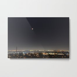 City Blood Moon. Metal Print
