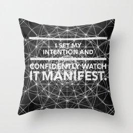 Intentions Set2 Throw Pillow
