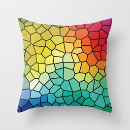 Super Cool Stained Glass Window Throw Pillow