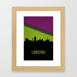 Lansing Skyline Framed Art Print