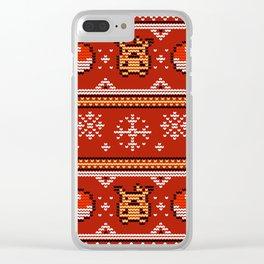 8-bit Pika Sweater Clear iPhone Case