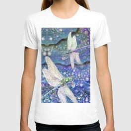 Dragonflies on Dragon's Tears T-shirt