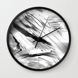 Modern Abstract - Black and White Wall Clock