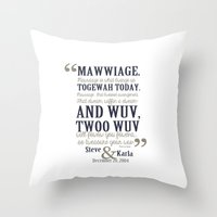 bedding Throw Pillows featuring steve and karla bedding by studiomarshallarts
