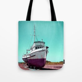 Wooden Boat Troller Fishing Oregon Coast Tote Bag