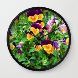 Petunias in a Pot Wall Clock
