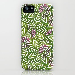 I don't need to improve - Green and pink iPhone Case