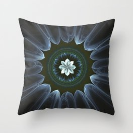 Blossom Within in White Throw Pillow