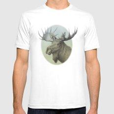 Moose head elk MEDIUM Mens Fitted Tee White