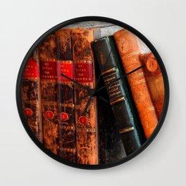 Rustic Antique Library Books Shelf Wall Clock
