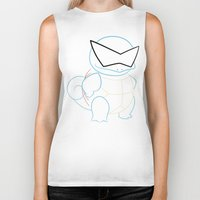 squirtle Biker Tanks featuring Squirtle v2 by Proxish Designs