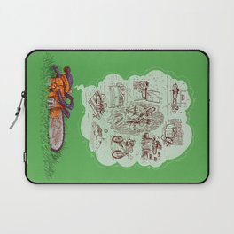 The Dreams of the Wonder Chainsaw Laptop Sleeve