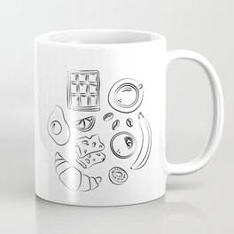 Modern black and white breakfast art Coffee Mug