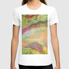 Colorful Abstract Marble Stone Green overtones T-shirt